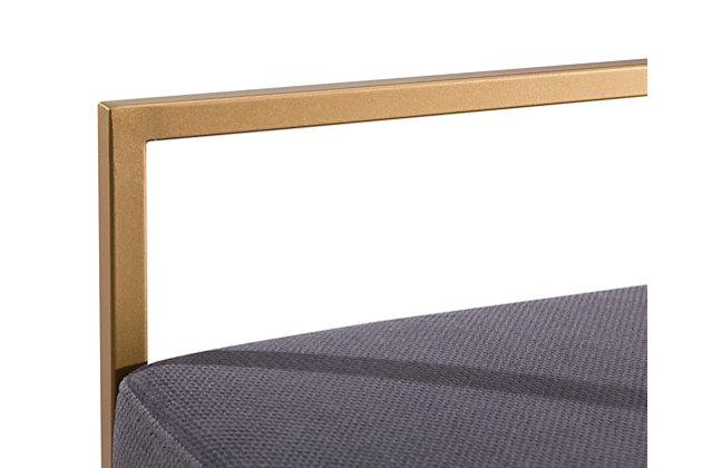 Trevi Trevi Slub Gray Counter Stool, Gray/Gold, large