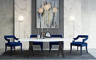Tiffany Tiffany Navy Velvet Chair, Blue, rollover
