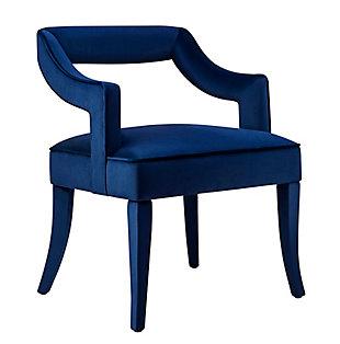 Tiffany Tiffany Navy Velvet Chair, Blue, large