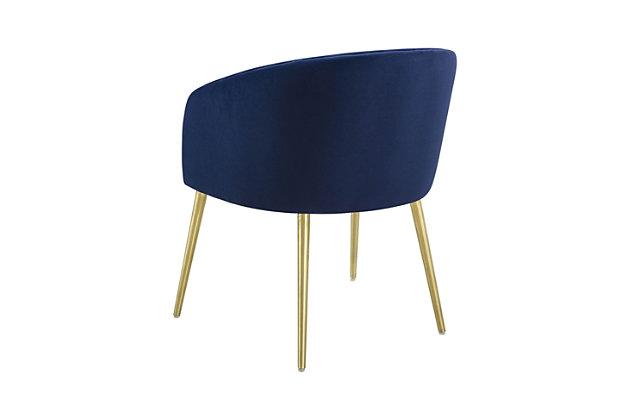 Arya Arya Performance Velvet Navy Dining Chair, Blue, large