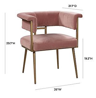 Astrid Astrid Blush Velvet Chair, Pink/Brass, large