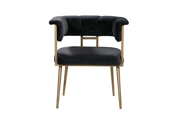 Astrid Astrid Gray Velvet Chair, Black, large