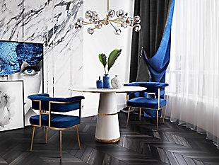 Astrid Astrid Navy Velvet Chair, Blue, rollover