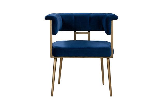 Astrid Astrid Navy Velvet Chair, Blue, large