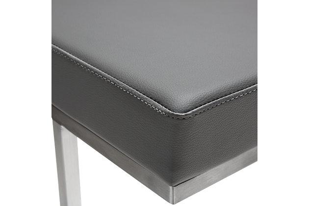 Ferrara Ferrara Gray Steel Barstool, Gray/Silver, large