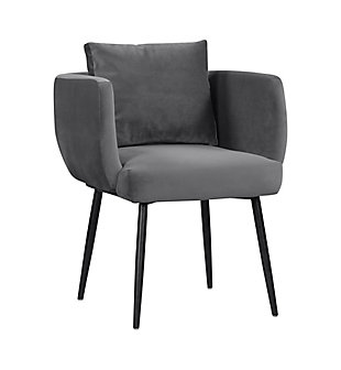 Alto Alto Gray Velvet Dining Chair, Gray/Black, large