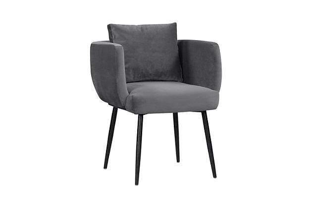 Alto Alto Gray Velvet Dining Chair, Gray/Black, large
