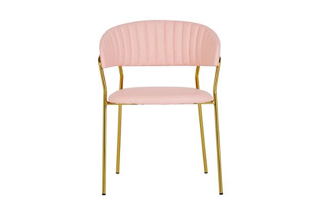 Padma Padma Blush Vegan Leather Chair - Set of 2, Pink/Gold, large