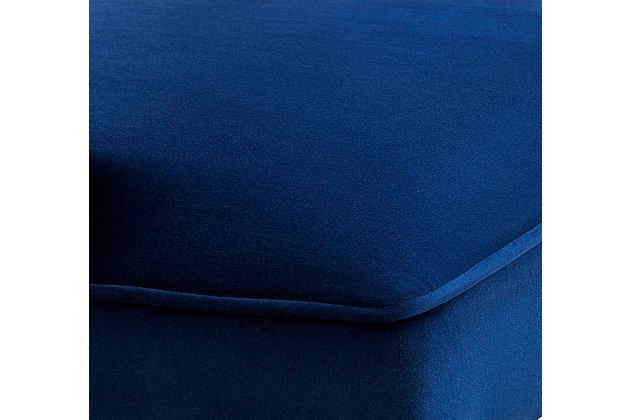 Tiffany Tiffany Navy Velvet Counter Stool, Blue, large