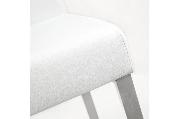 Denmark Denmark White Steel Counter Stool, White/Silver, large