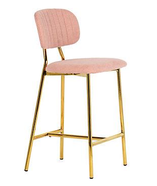 Ariana Ariana Blush Counter Stool (Set of 2), Pink/Gold, large