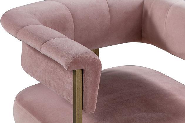 Astrid Astrid Blush Velvet Counter Stool, Pink, large