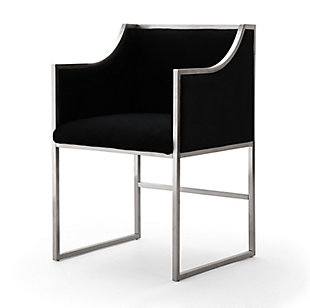 Atara Atara Black Velvet Silver Chair, , large