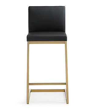 Parma Parma Black Gold Steel Counter Stool, Black/Gold, large