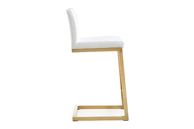 Parma Parma White Gold Steel Counter Stool, White/Gold, large