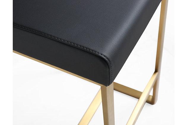 Denmark Denmark Black Gold Steel Counter Stool, Black/Gold, large
