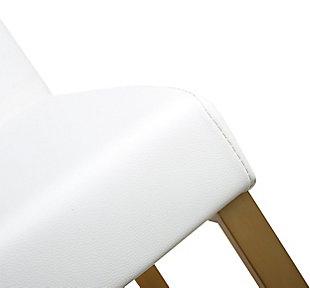 Denmark Denmark White Gold Steel Counter Stool, White/Gold, large