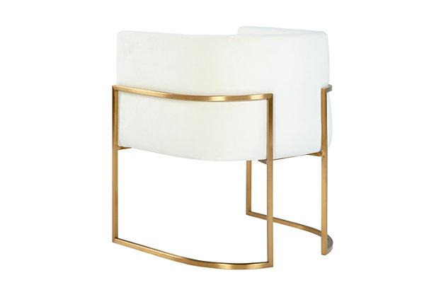 Giselle Giselle Cream Velvet Dining Chair - Gold Frame, Cream/Gold, large