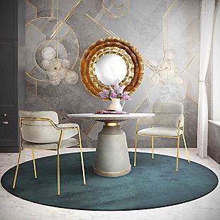 Karl Karl Gray Velvet Chair - Set of 2, , rollover
