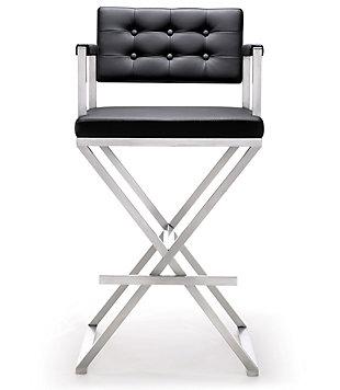 Director Director Black Steel Barstool, Black/Silver, large