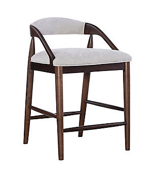 Ree Upholstered Counter Stool, Brown, large