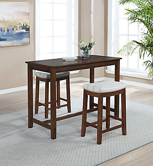 Claridge 36 inch Counter Height Pub Table, Rustic Brown, Rustic Brown, rollover