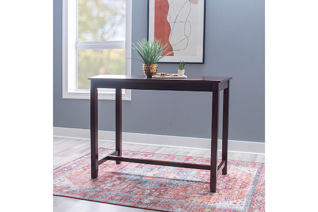 Claridge 36 inch Counter Height Pub Table, Brown, Brown, large