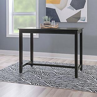 Claridge 36 inch Counter Height Pub Table, Black, , rollover