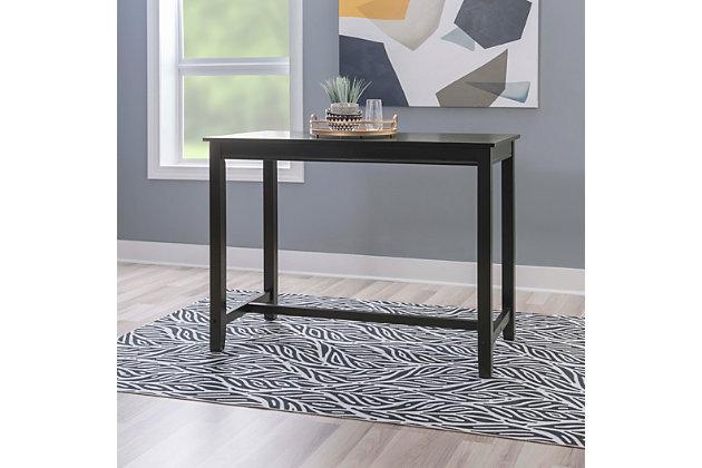 Claridge 36 inch Counter Height Pub Table, Black, Black, large