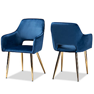 Baxton Studio Set of 2 155-9546-AMZ Dining Chairs One Size Black//Walnut