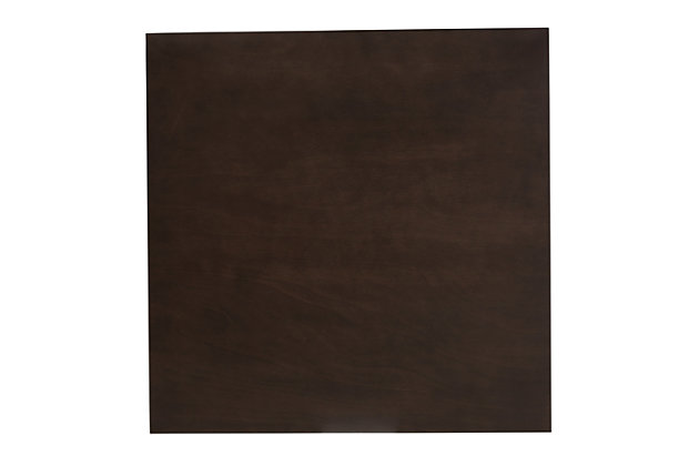 Britte Dark Oak Brown Finished Square Wood Dining Table, , large