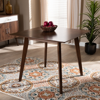 Pernille Modern Transitional Walnut Finished Square Wood Dining Table, , large