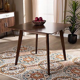 Pernille Modern Transitional Walnut Finished Square Wood Dining Table, , rollover