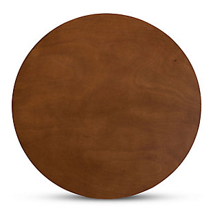 Kenji Walnut Brown Finished 35-Inch-Wide Round Wood Dining Table, Walnut Brown, large