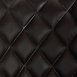 "Dani 26"" Brown Faux Leather Swivel Barstool in Walnut Glazed Finish, Brown, large"