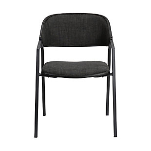 Austin  Charcoal Modern Dining Accent Chairs - Set of 2, , large