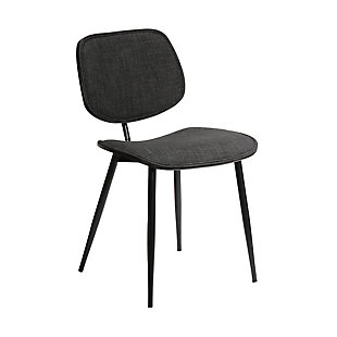 Lizzy  Charcoal Modern Dining Accent Chairs - Set of 2, Gray, large