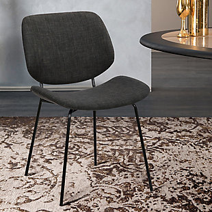 Quest  Charcoal Modern Dining Accent Chair, , rollover