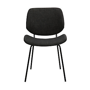 Quest  Charcoal Modern Dining Accent Chair, , large
