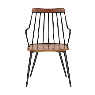 Alcott  Contemporary Walnut and Metal Dining Room Chair, , large