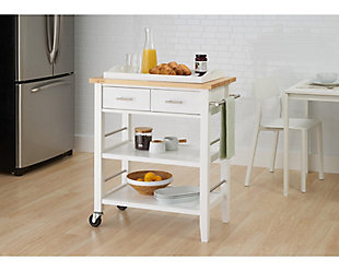 Rubberwood Butcher Block Kitchen Cart, , rollover