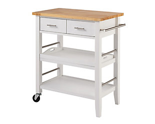 Rubberwood Butcher Block Kitchen Cart, , large