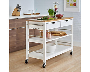 Bamboo Top Kitchen Island, , rollover