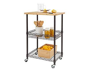 Bamboo Top Kitchen Cart, , large
