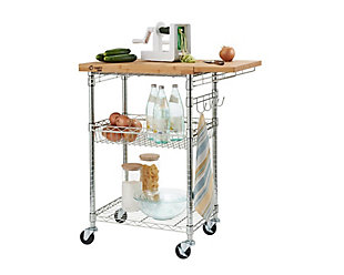 Expandable Bamboo Top Kitchen Cart, , large
