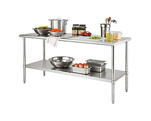 "Stainless Steel 72"" Table, , large"