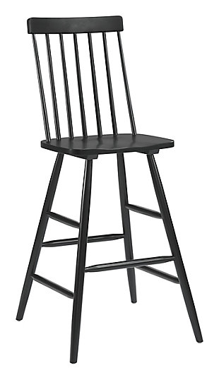 Ashley Bar Chair Black, Black, rollover