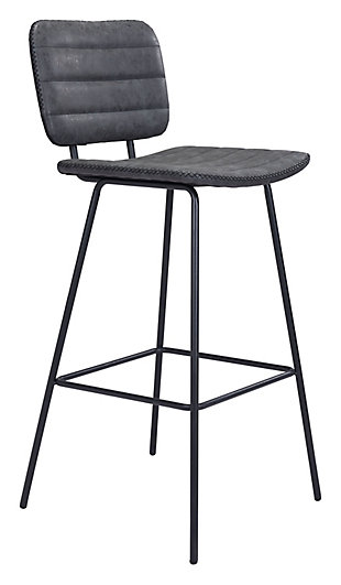 Boston  Bar Chair Vintage Black, Vintage Black, large