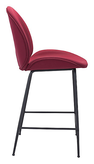 Miles Counter Chair, Red, large