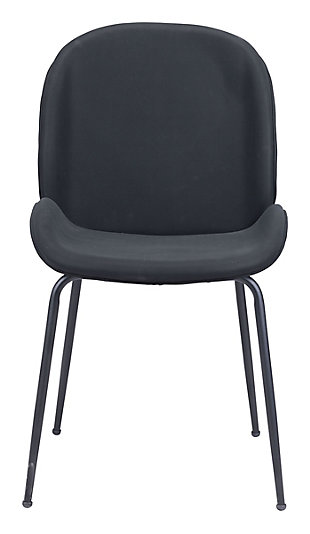Miles  Dining Chair (Set of 2) Black, Black, rollover